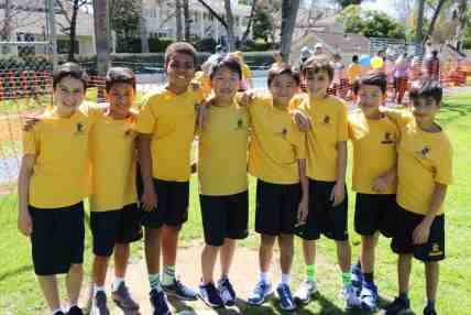 A few members of the boys B-Team